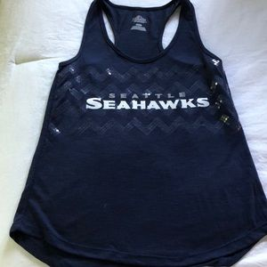 Women's Seahawks racer tank. Medium.